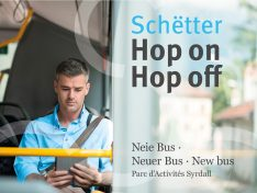 Schëtter – Neie Bus am Parc d'Activités Syrdall zu Minsbech