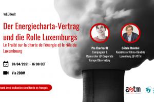Webinar: Le traité sur la charte de l'énergie et le rôle du Luxembourg